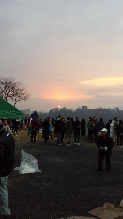 津山城、初日の出