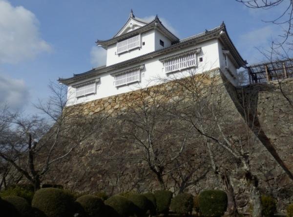津山城、備中櫓、石垣