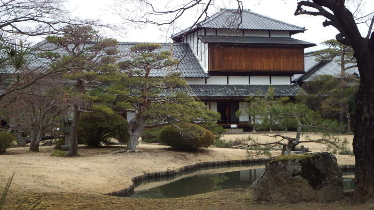 松代城、真田邸、庭園、座観式