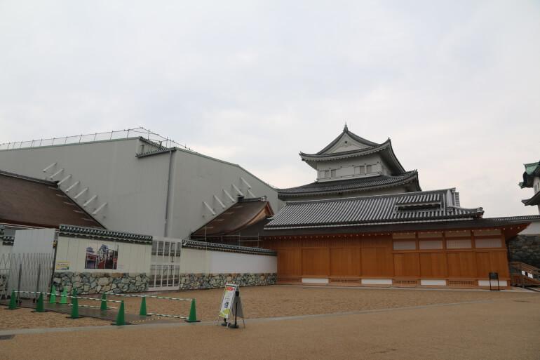 名古屋城、素屋根、上洛殿、ミュージアムショップ