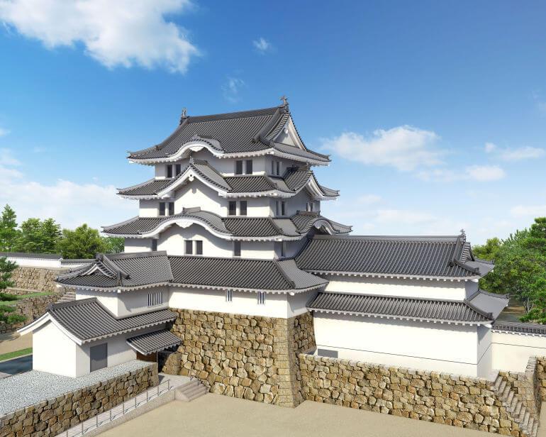 尼崎城、再建天守、完成予想図