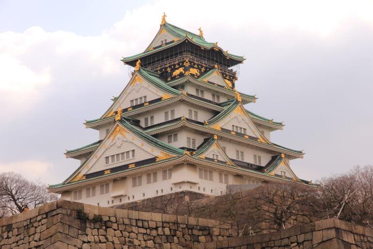 大阪城、豊臣秀吉、天守