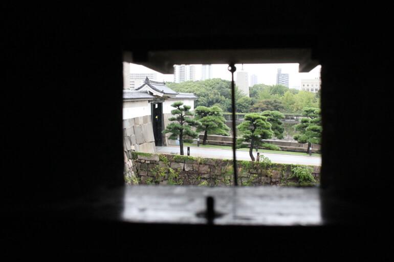 大坂城、千貫櫓内、狭間