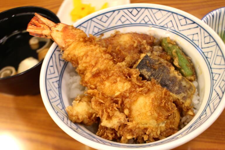 小田原城、天丼セット