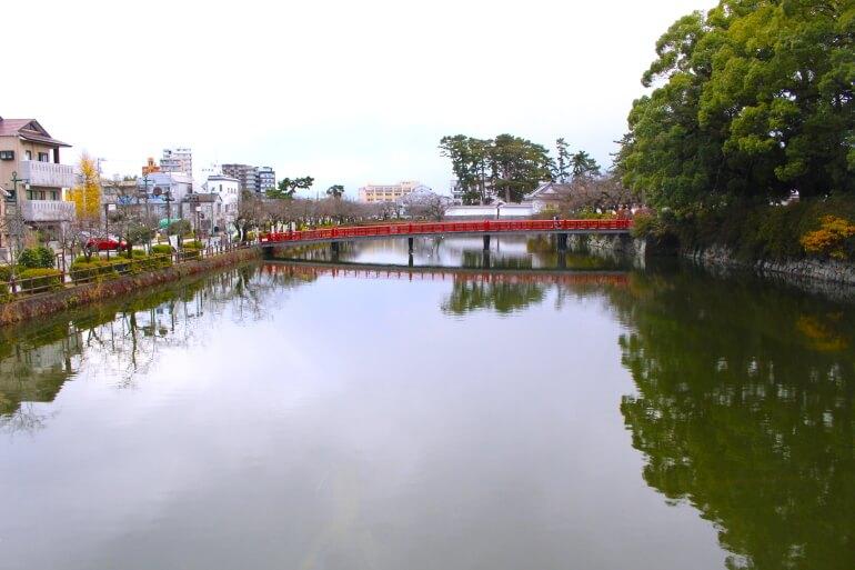 小田原城、学橋
