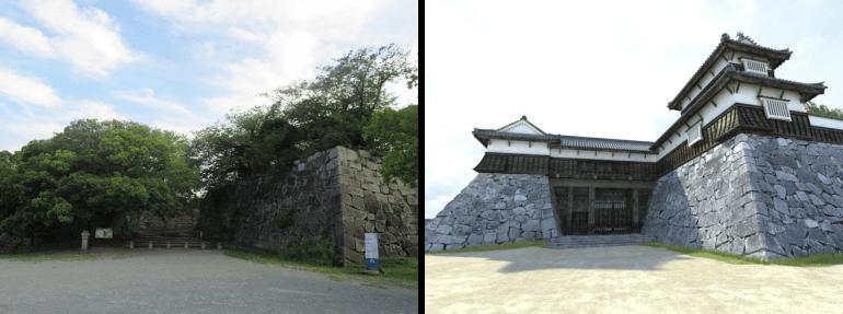 福岡城、VR、櫓、再現