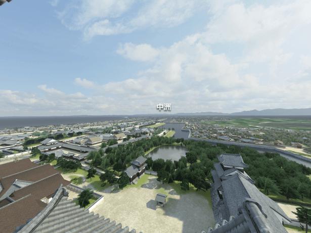 福岡城、VR,再現