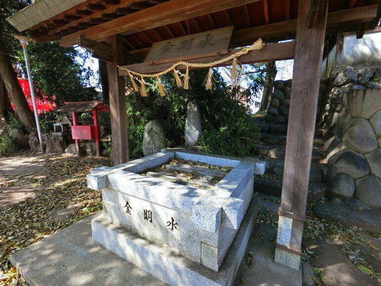愛宕神社、境内、金明水