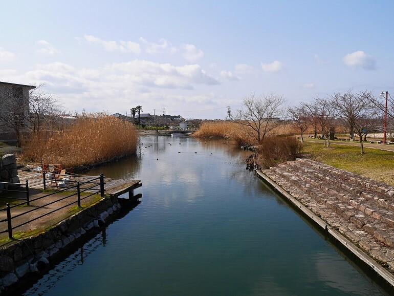 安土城、常浜、常楽寺港跡