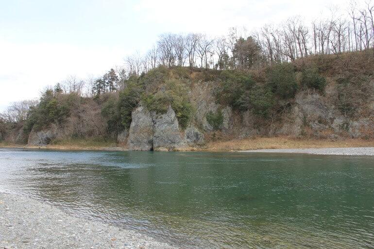 鉢形城、二の丸、荒川、深沢川、丘陵