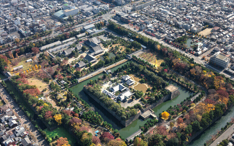 二条城、徳川将軍、堀