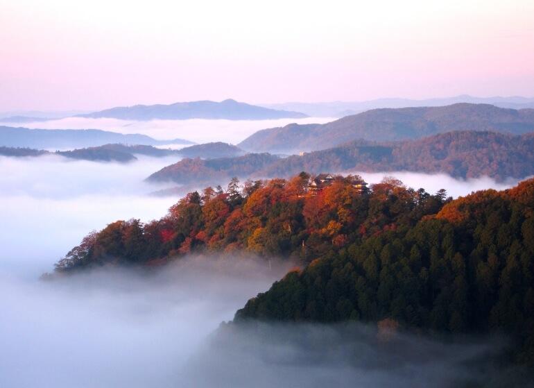 備中松山城、雲海