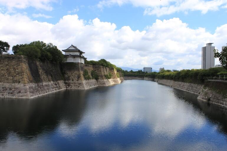 大阪城、南外堀、普請