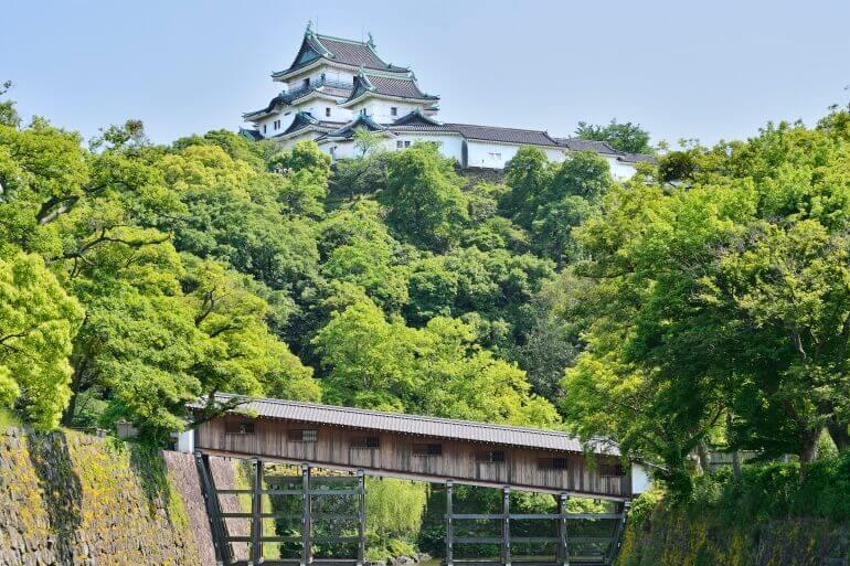 和歌山城、天守、御橋廊下、復元