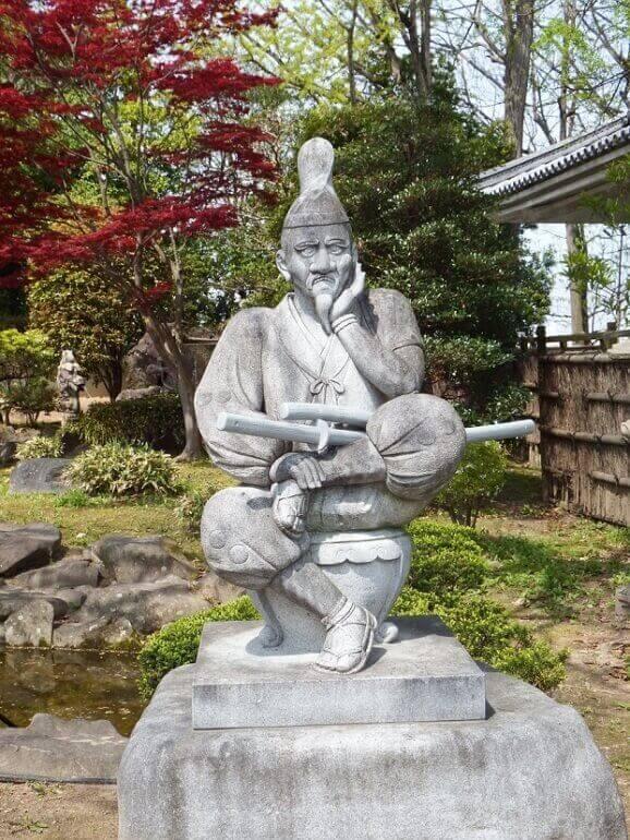岡崎城、石造、しかみ像