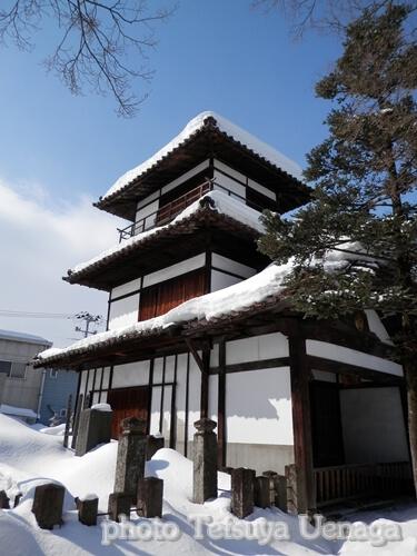 会津若松城、鶴ヶ城、御三階櫓、阿弥陀寺、境内