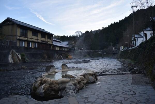 芹川、露天風呂、ガニ湯