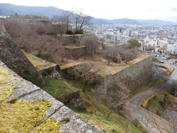 津山城、石垣、天守台、要塞