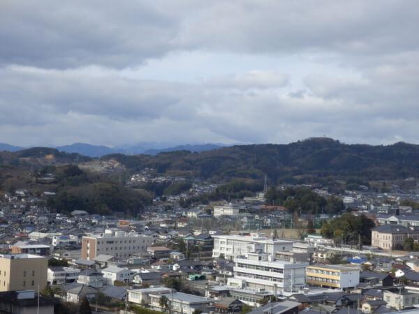 津山城、天守台、神楽尾城跡