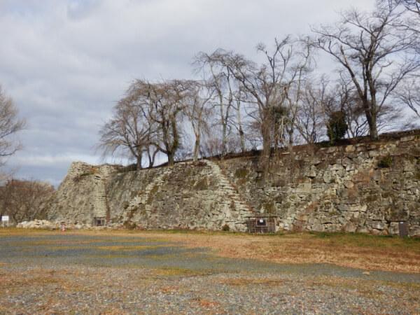 津山城、矢切櫓、石垣