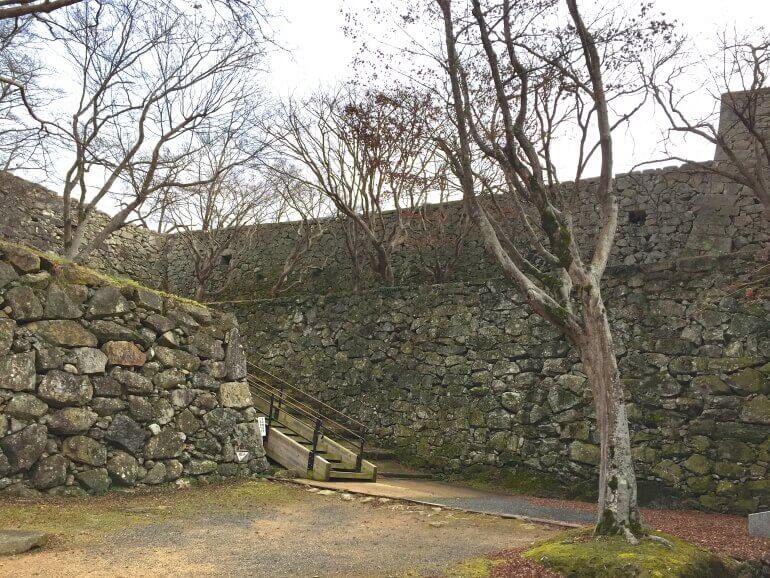 津山城、裏中門跡、城塞、搦手