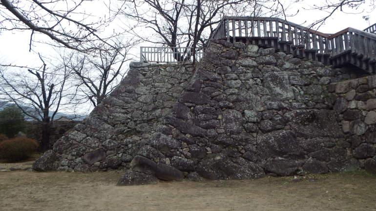 松代城、櫓、石垣