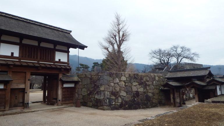 松代城、本丸、搦手、北不明門、櫓門、桝形