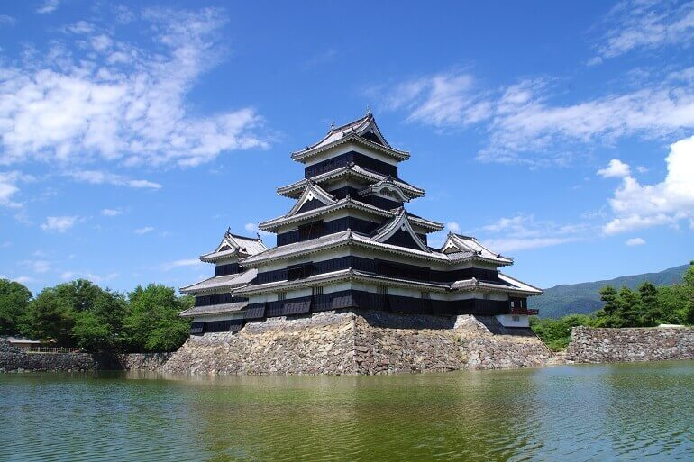 松本城、黒漆、国宝、天守