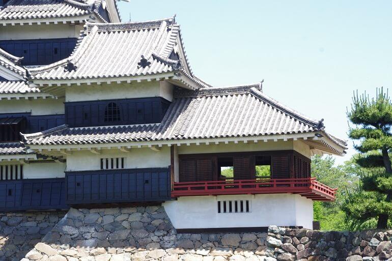 松本城、漆、月見櫓、