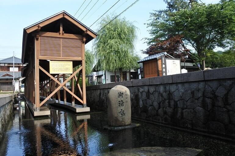 越前大野城、御清水、貯水槽、階段状