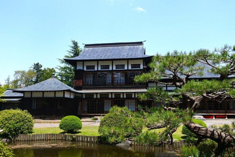 上杉伯爵亭、米沢城、二の丸、庭園、国登録有形文化財