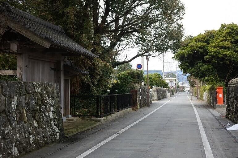 福江城、武家屋敷通り、五島氏庭園隠殿屋敷