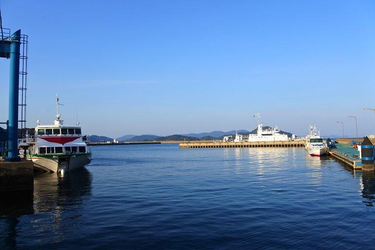 福江城、五島、舟、ジェットフォイル