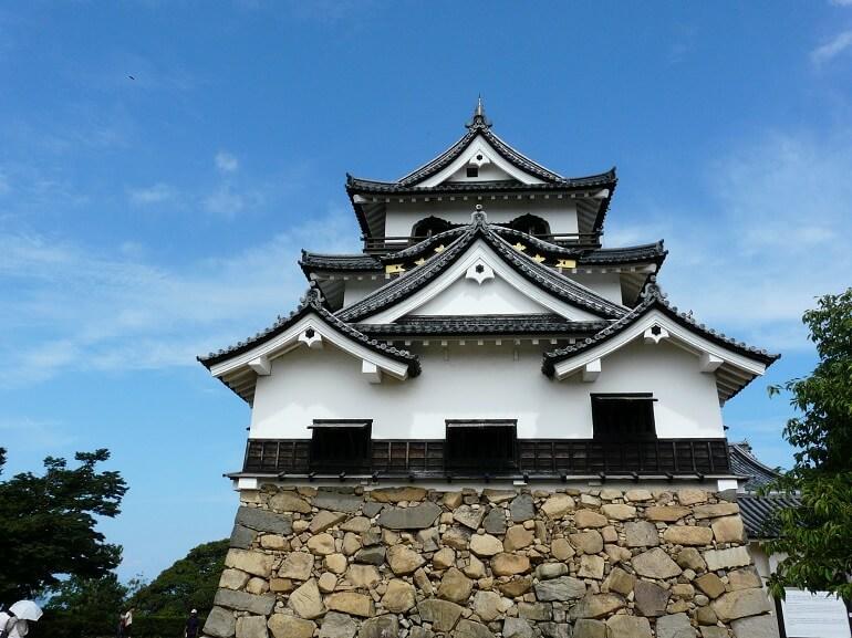 三重三階の天守、大津城