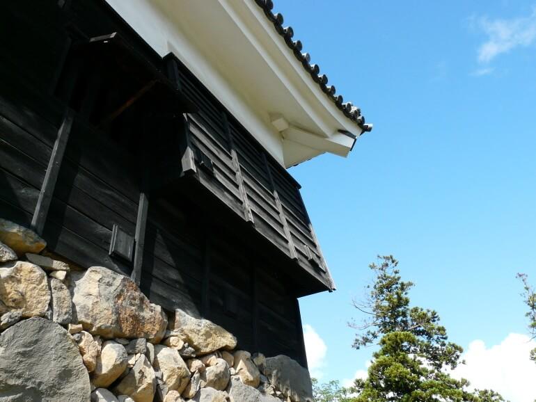 付櫓、石落とし、松江城