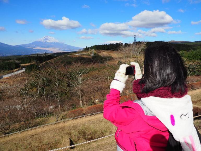 山中城、富士山
