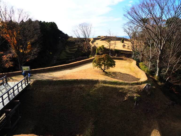 山中城、北条丸、櫓台、元西櫓、西ノ丸