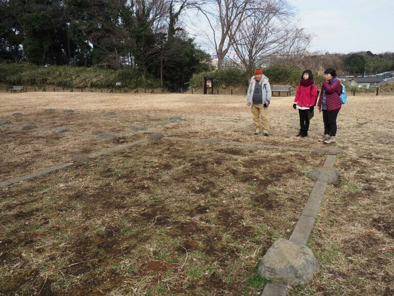 茅ヶ崎城、中郭、建物跡