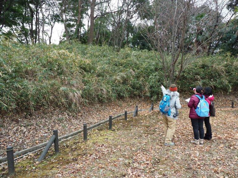 茅ヶ崎城、中郭、土塁、櫓