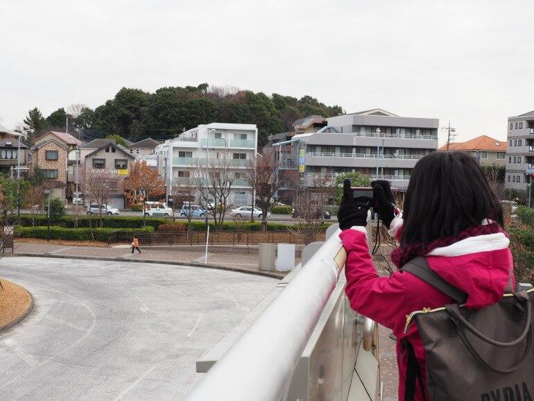 茅ヶ崎城、歩道橋
