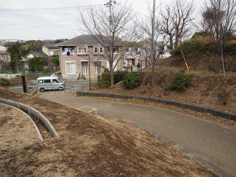 茅ヶ崎城、遊歩道