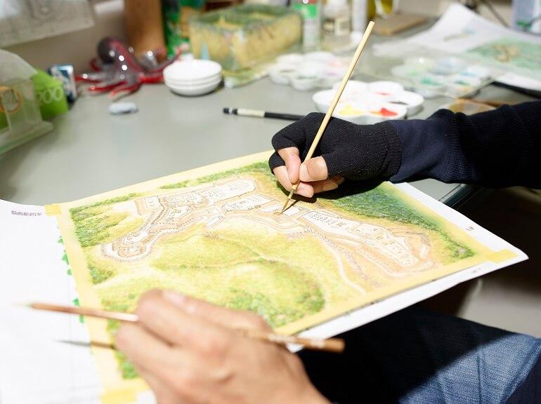 香川元太郎、イラスト、作成