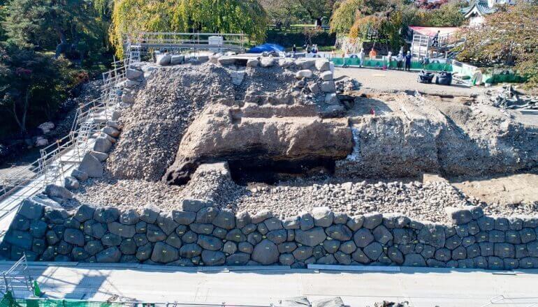 弘前城、石垣、解体、構造