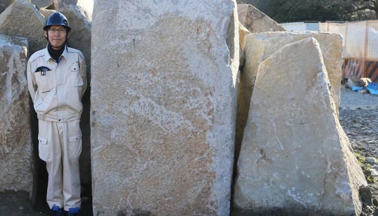 駿府城、巨石