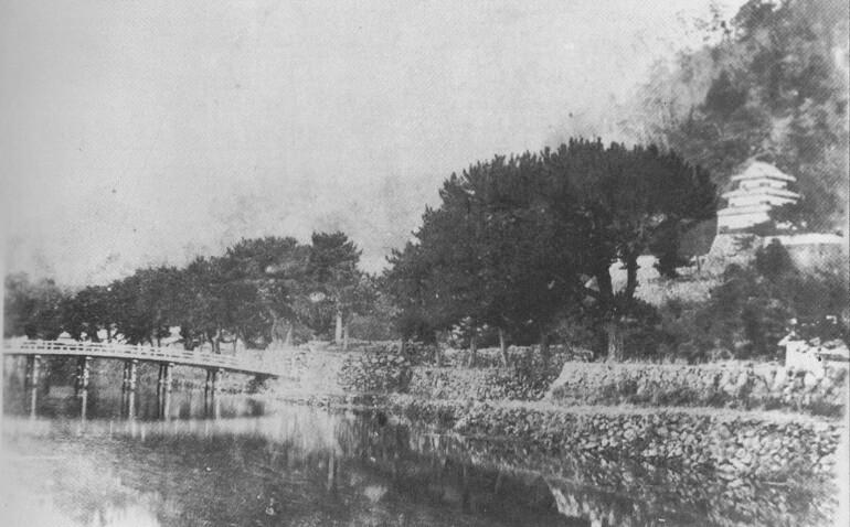 鳥取城、擬宝珠橋、二ノ丸三階櫓