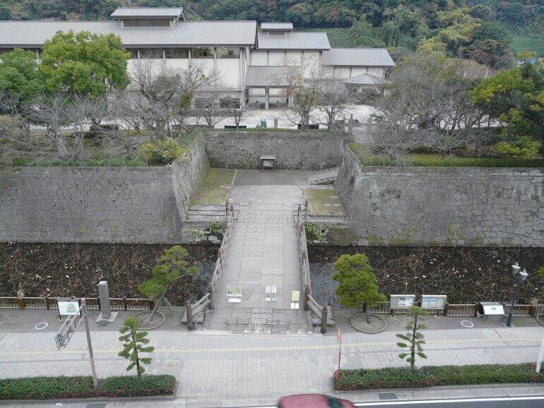 鹿児島城、御楼門、復元、本丸跡、桝形
