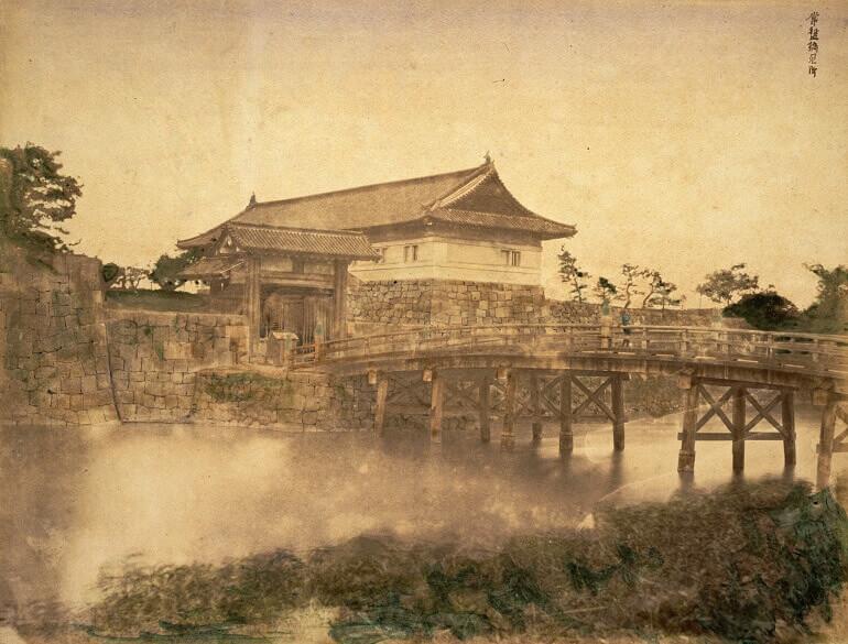 江戸城、常盤橋、常盤橋門、木造