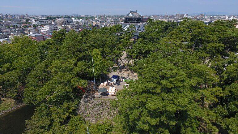 岡崎城、月見櫓、遠景、復興天守