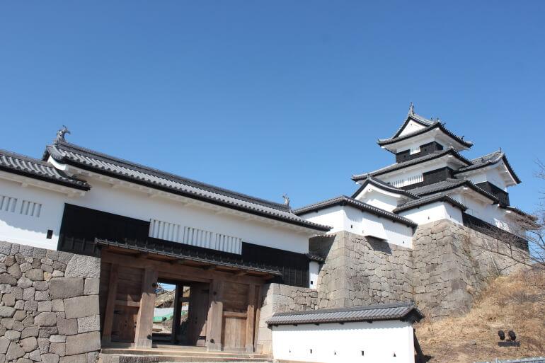 小峰城跡、三重櫓、前御門
