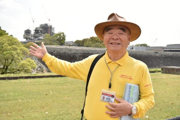 熊本城、くまもとよかとこ案内人の会、吉村徹夫会長